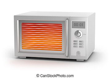 Microwave oven isolated on white My own design