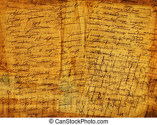 Abstract grunge background alienated paper with manuscript