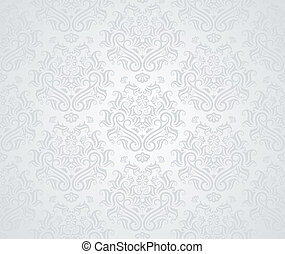 Seamless Pattern - Seamless retro wallpaper pattern in light...