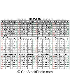 2012 calendar landscape oriented - 2012 calendar Landscape...