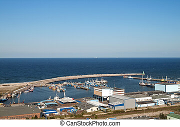 Fishermens port - The fishermens port of Wladyslawowo aerial...