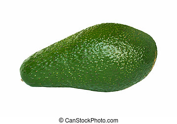 Avocado pear isolated on white background