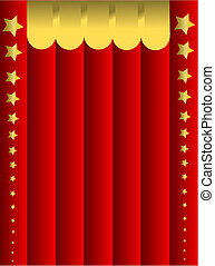 Red background - Red curtain background with golden stars....