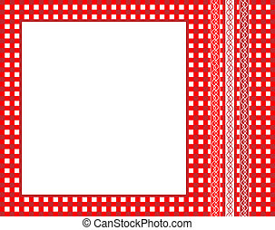 Gingham frame - A vector illustration of a red gingham...