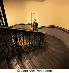 Stairwell - Curved Antique stairwell
