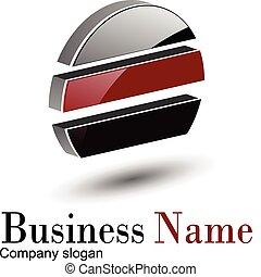 logo 3d circle - WebLogo 3d red glossy circle, vector...