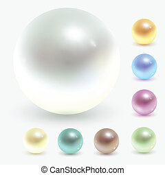 pearls - Beautiful pearls, realistic vector illustration