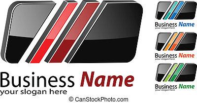 Logo square - Logo 3d square, multicolored business logo...