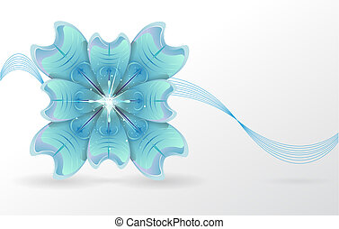 abstract background. blue flower.