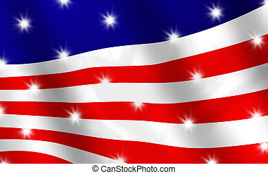 Abstract Version of the Stars and Stripes Flag - Abstract...