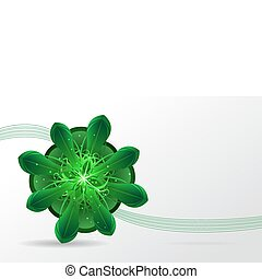 abstract background. Green flower.