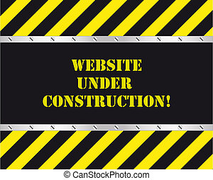 site web, sous, construction