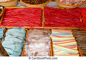 candy sweets colorful shop varied jelly