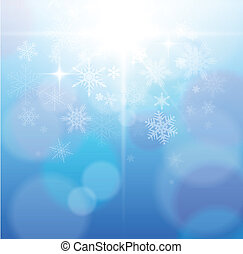 winter abstract background - Beautiful winter abstract...