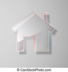 Glass house icon. Vector illustration