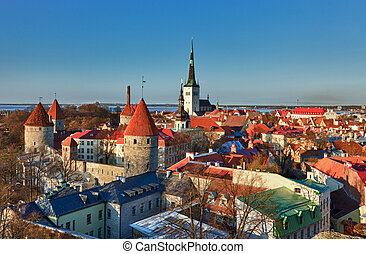 Old town of Tallinn Estonia - Capital of Estonia, Tallinn is...