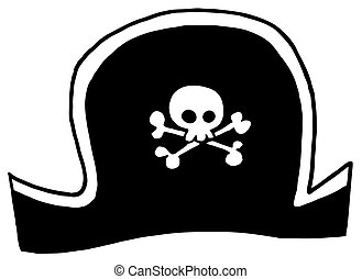 Black Pirate Hat Cartoon Character
