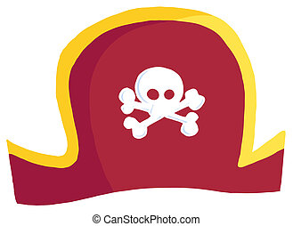 Pirate Hat Cartoon Character
