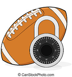 Football lockout - Concept illustration showing a football...