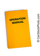 Operation Manual with white background