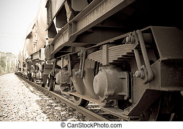 chassis of a freight train