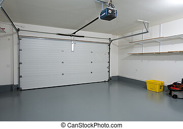 Clean garage - Interior of a clean garage in a house