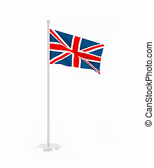 3D flag of Great Britain isolated on white