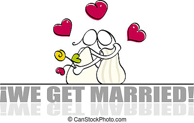 Funny lesbian wedding card - women get married for a wedding...
