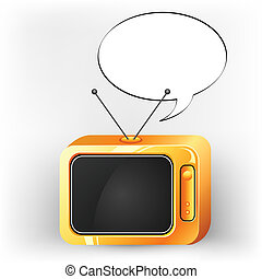Television with Speech Bubble