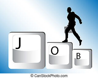 businessman run for job
