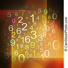 numbers background - colorful numbers on grid textured...