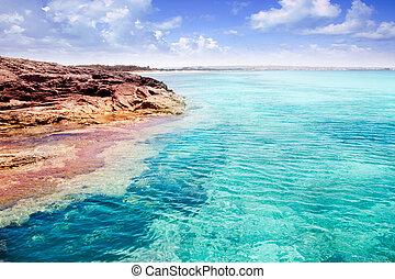 Formentera Illetes island turquoise tropical sea -...