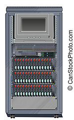 Computer Server Cabinet - Illustration of a Computer Server...