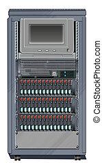Computer Server Cabinet - Illustration of a Computer Server...