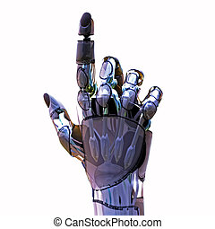 Android Pointer - 3D render of an robotic hand pointing
