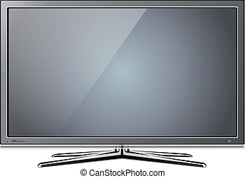 tv lcd - Modern TV lcd, led - vector illustration