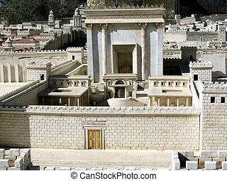 Second Temple.Model of ancient Jerusalem