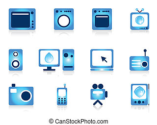 Home appliance objects set.