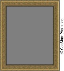 Empty notice board cutout