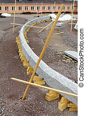 Road works - Wooden constructions on road works