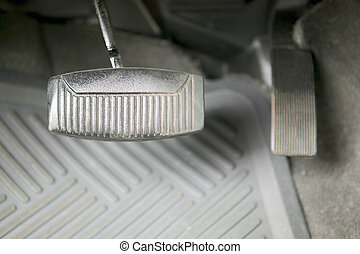 Gas and brake pedal, automobile, concept photography - Car...
