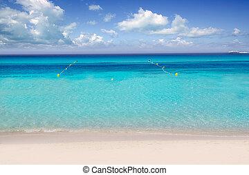 Illetas illetes beachn turquoise Formentera island - Illetas...
