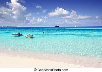 Illetas, illetes, beachn, turquesa, Formentera, ilha