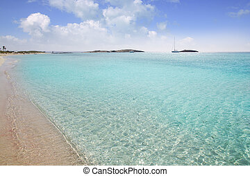 Formentera beach illetas white sand turquoise water perfect...