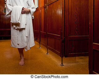 Person in Spa Abstract - An abstract detail of a person in...