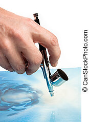 Airbrush in hand