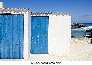 Es calo escalo Formentera white balearic architecture blue...