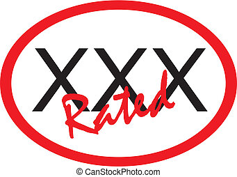 xxx Rated - XXX Rated sign