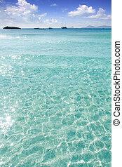 Illetes Illetas beach Formentera turquoise Mediterranean...