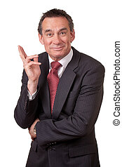 Attractive Grinning Middle Age Business Man in Suit about to...